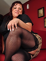 Naughty mature Latin BBW playing alone