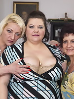 Three mature ladies fucking and sucking